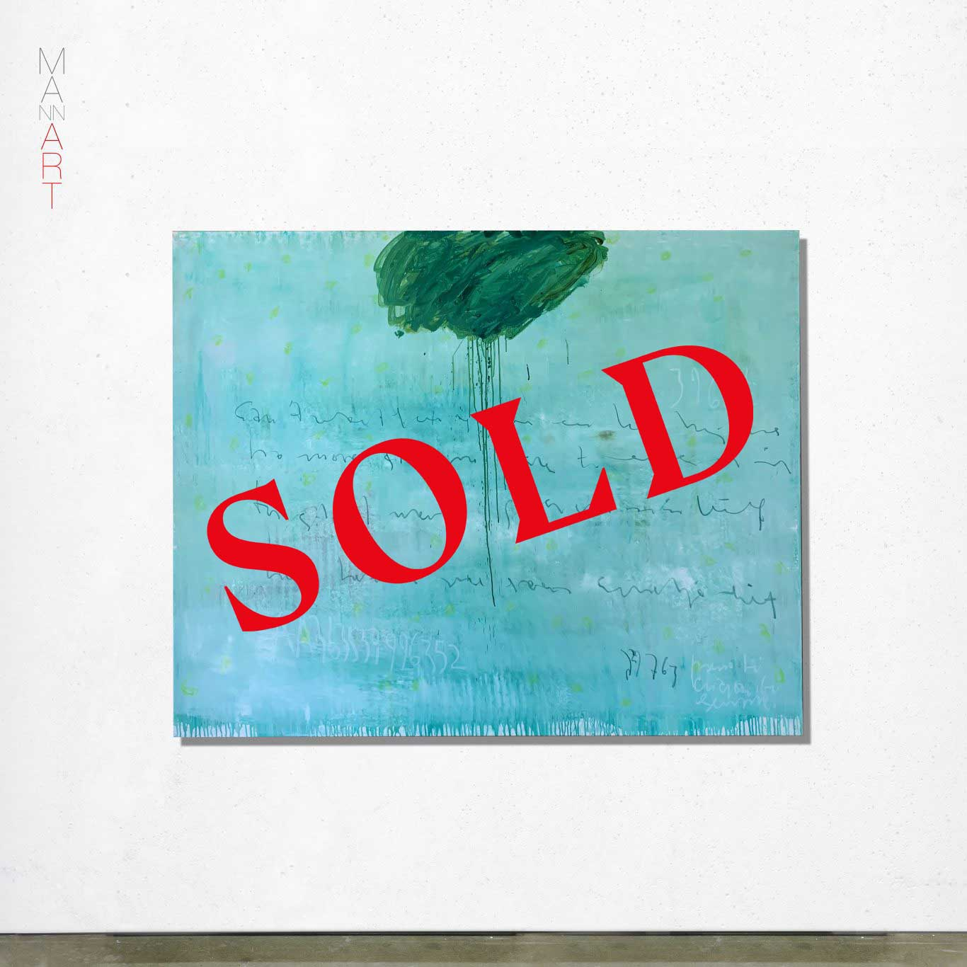 MANNA Art Rain On Me Green - Sold